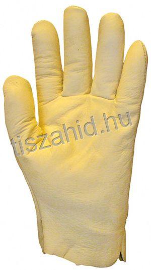 2420 puha, vastag színmarhabőr tenyér és kézhátú kesztyű