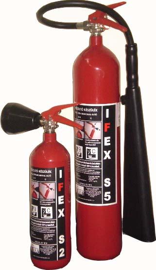 TAC5 5 kg CO2 oltó készülék