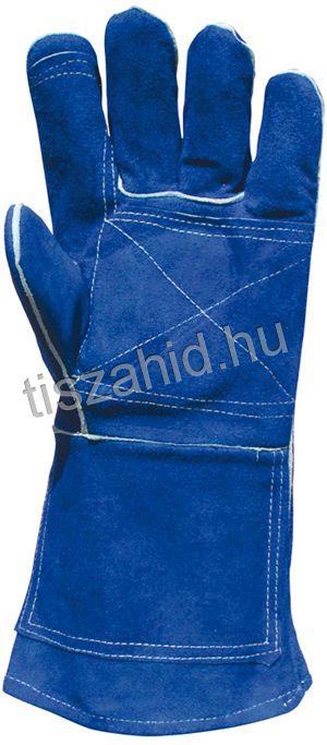 2636 szikra- és hőálló kék marhahasíték kesztyű