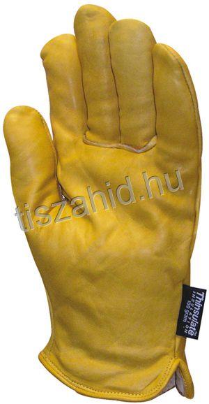 """2480 """"Alaska"""": sárga színborjúbőr kesztyű"""