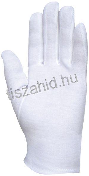 4150 100%-os fehér pamut kesztyű
