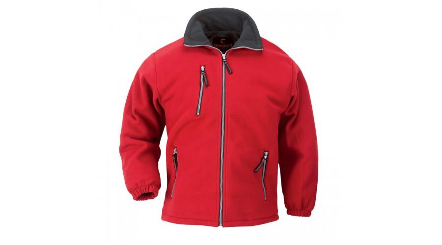 XVANR ANGARA CIPZÁROS piros pulóver