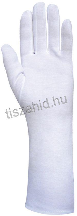 4152 100%-os fehér pamut kesztyű