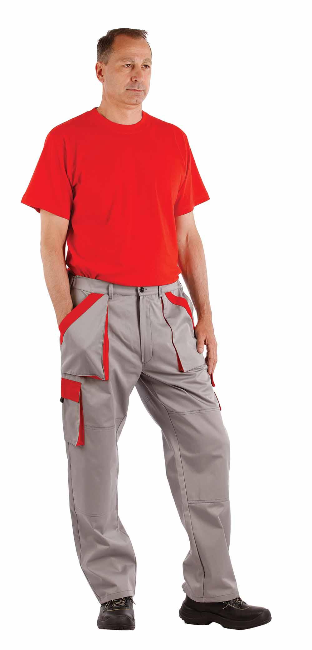 MAX nadrág szürke-piros