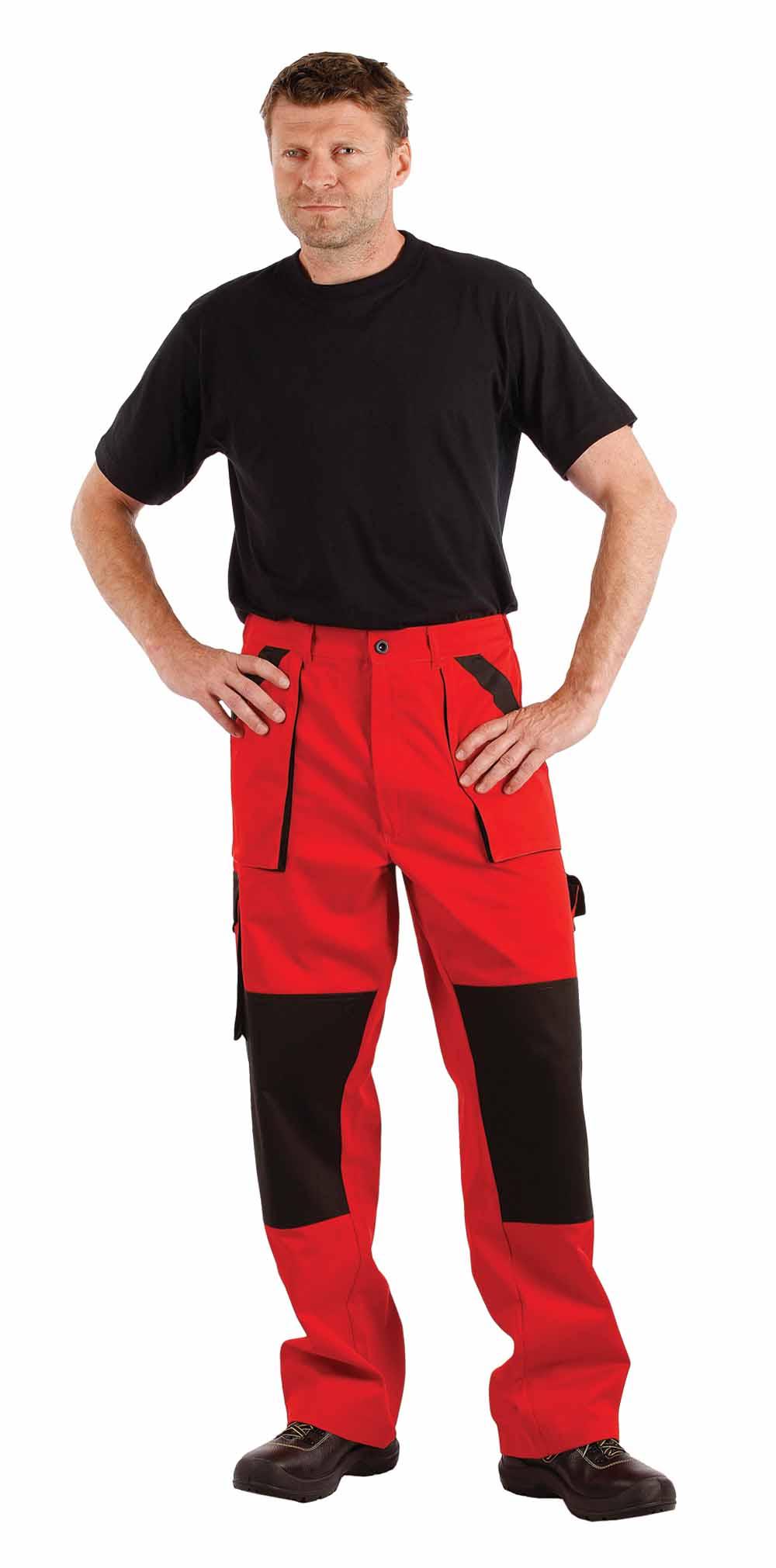 MAX nadrág piros-fekete