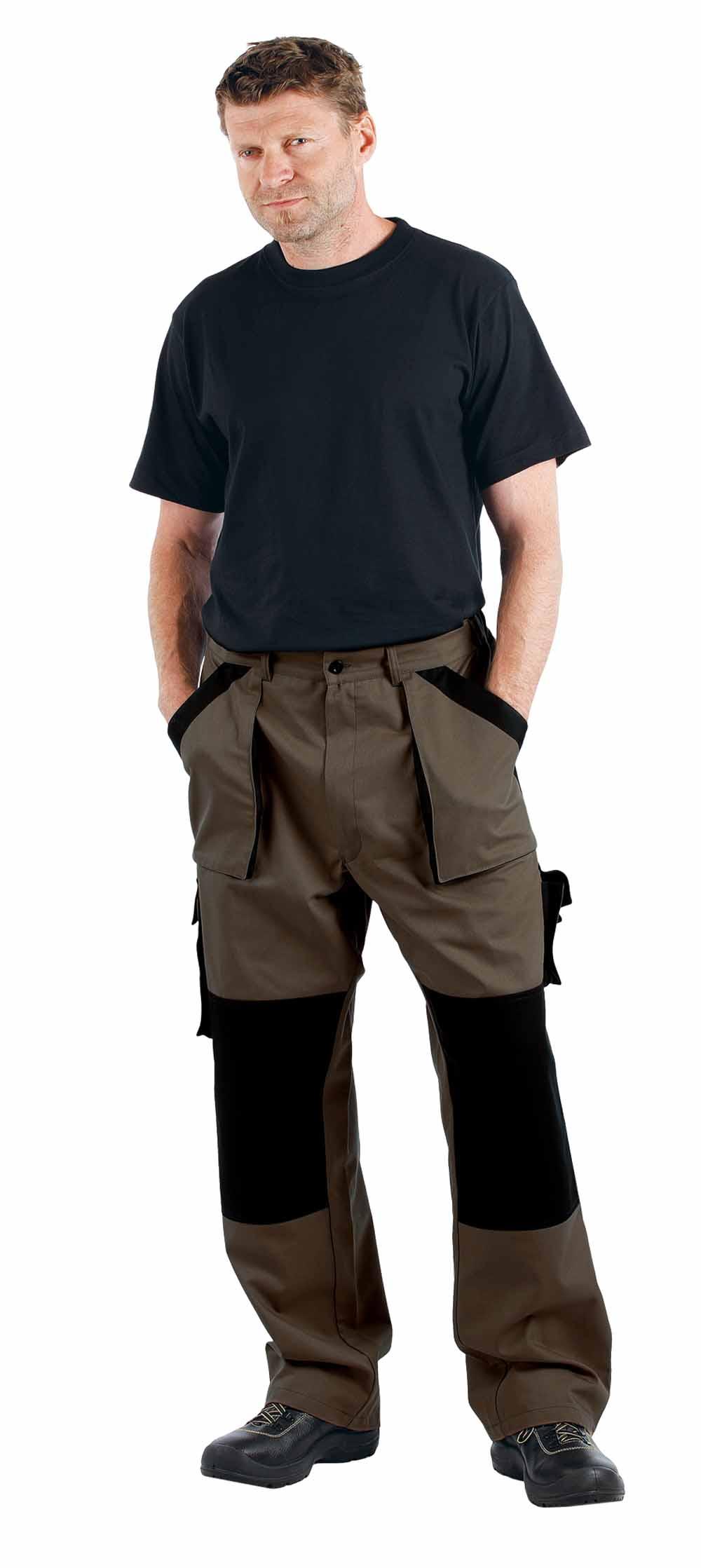 MAX nadrág barna-fekete
