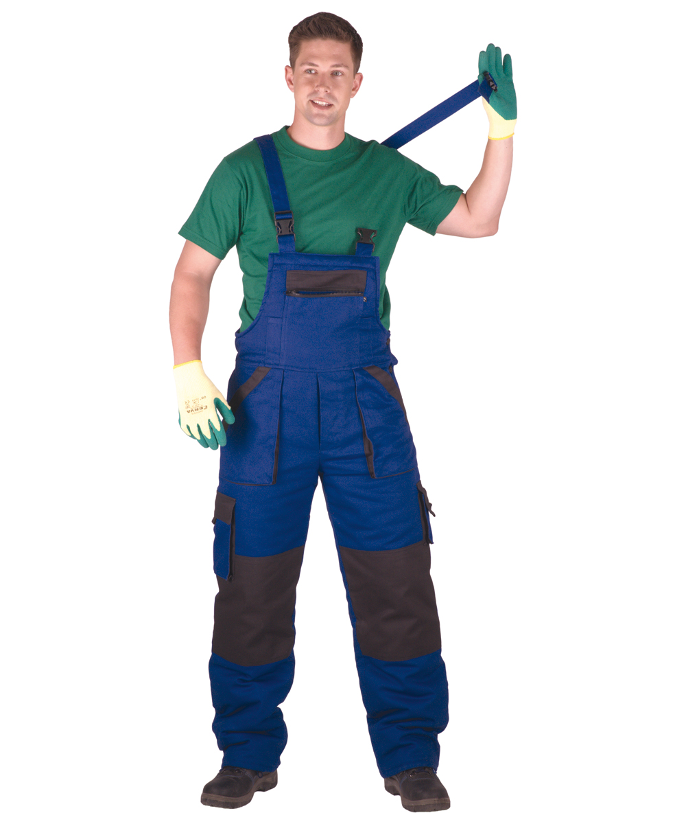 MAX WINTER kantáros nadrág kék-fekete