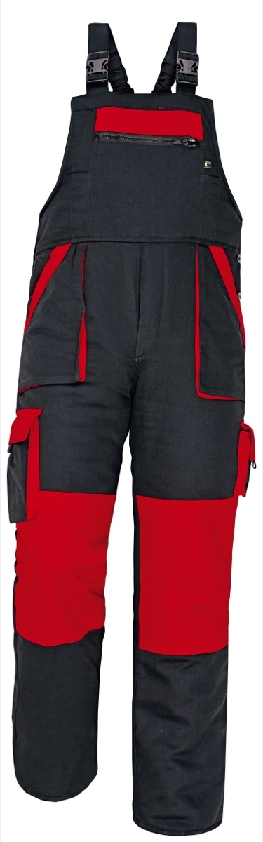 MAX WINTER kantáros nadrág fekete-piros