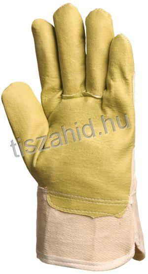 104 sárga műbőr kesztyű