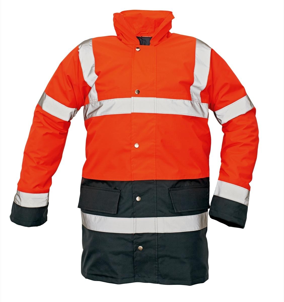 SEFTON bélelt fluo kabát piros/navy