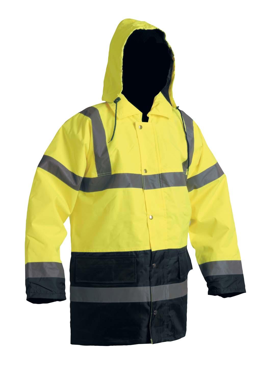 SEFTON bélelt fluo kabát sárga/navy