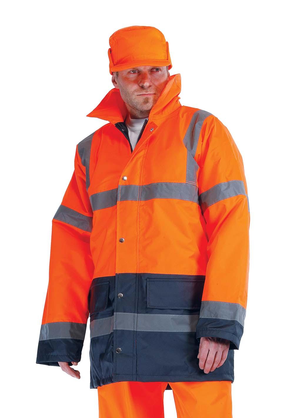 SEFTON bélelt fluo kabát narancs/navy