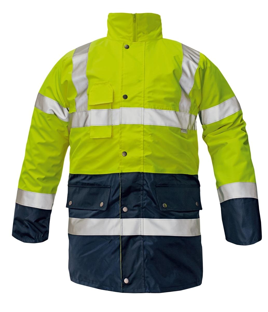 BI ROAD 4/1 kabát HV sárga/sötétkék