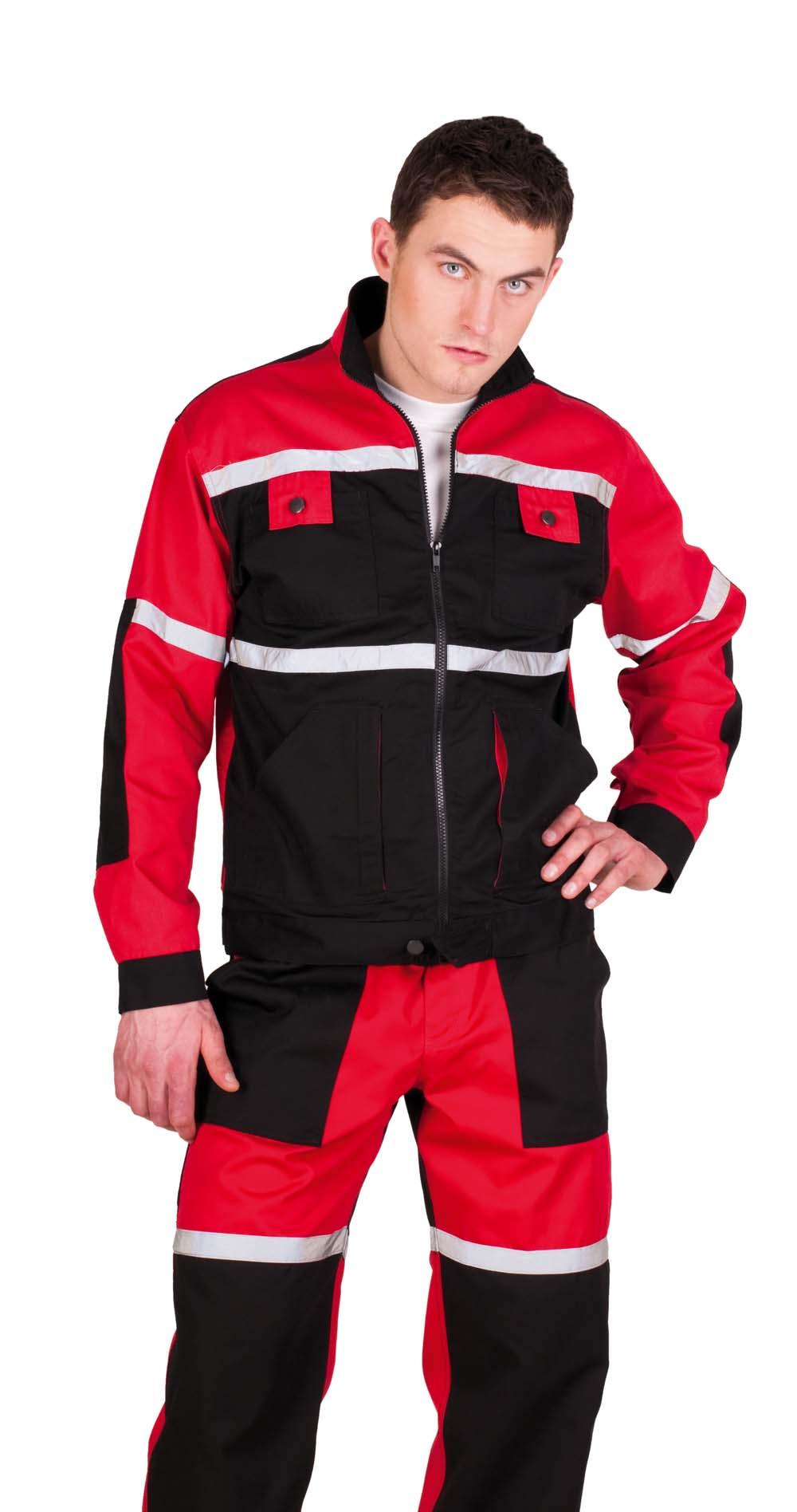 TAYRA kabát piros-fekete