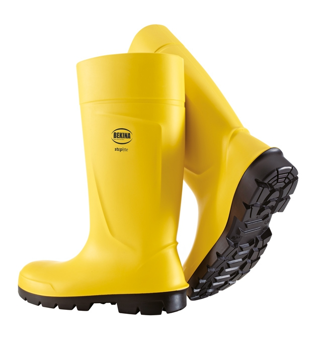 BEKINA STEPLITE PU BOOTS S5 sárga csizma