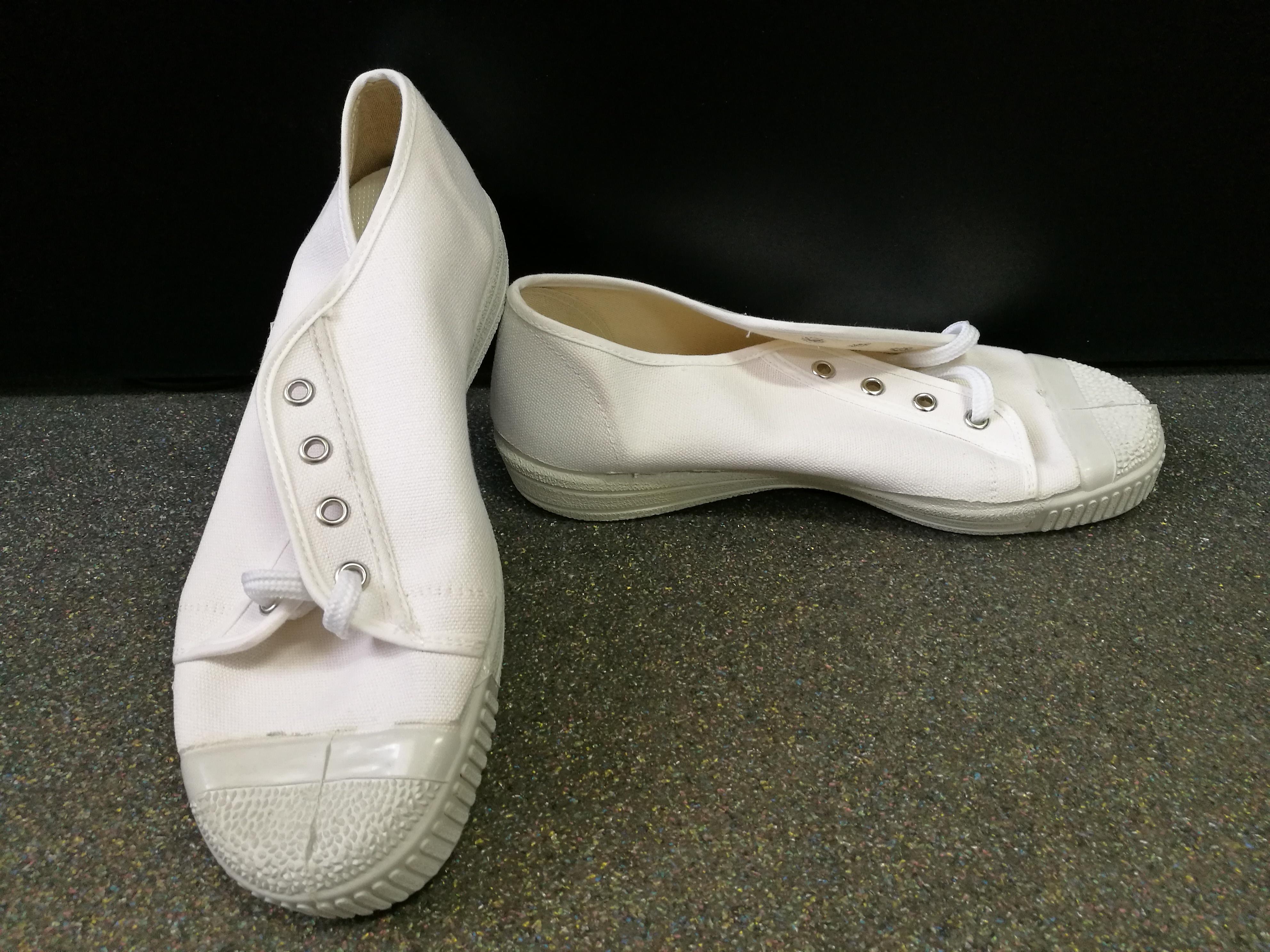 Félszárú tornacipő fehér