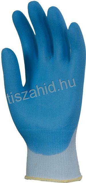 6340 tenyéren mártott nitril kesztyű kék