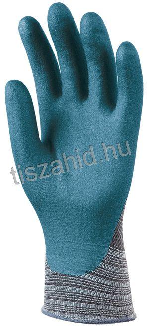6658 tenyéren mártott nitril/pu mártott kesztyű kék