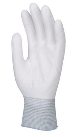 6016 Tenyéren mártott PU kesztyű fehér