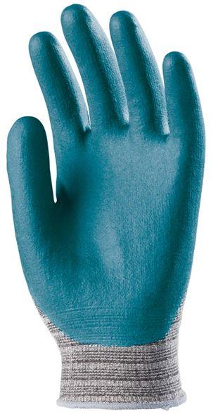 6660 tenyéren mártott nitril/pu mártott kesztyű kék
