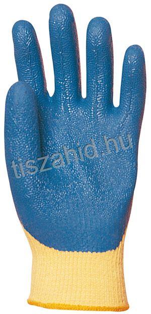 3880 KEVLAR® alapkesztyűre kondenzált kék színű latex