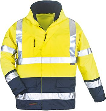 7AIFY AIRPORT 4/1 kabát sárga/kék