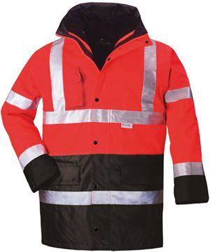 70580 HI-WAY FLUO PE 4/1 kabát piros/fekete