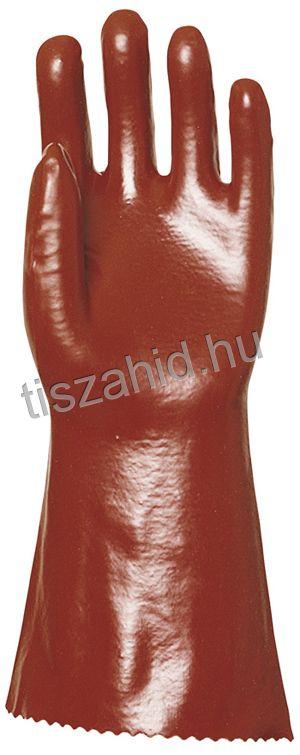 3636 36cm mártott bordó PVC kesztyű