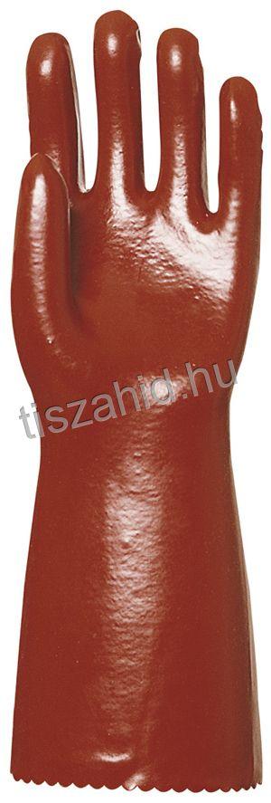 3640 40cm mártott bordó PVC kesztyű