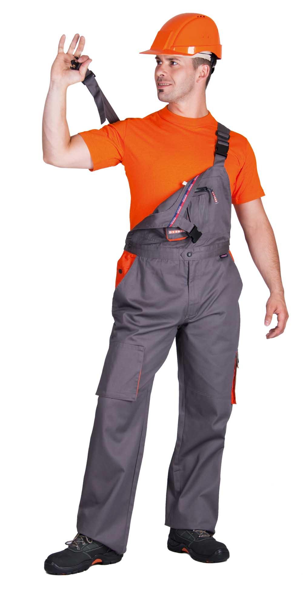 DESMAN kertész nadrág szürke/narancs
