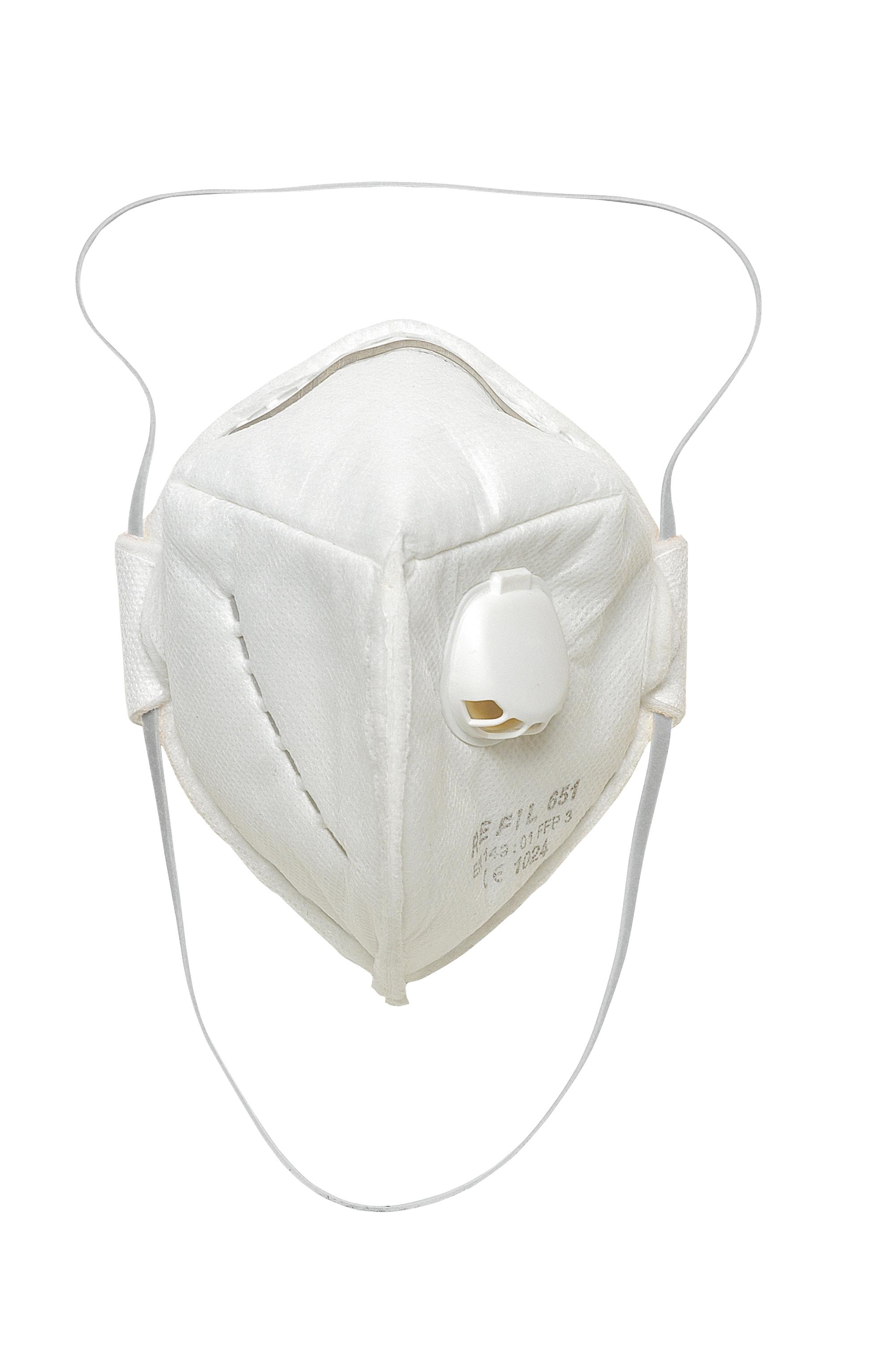 REFIL 651 FFP3 szelepes maszk akasztófüles csomagolásban