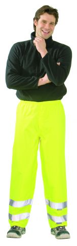 PLANAM 2065 Jól láthatósági eső elleni derekas nadrág, citromsárga