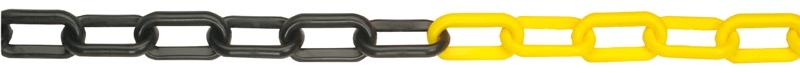 Jelzőlánc 8 mm sárga-fekete