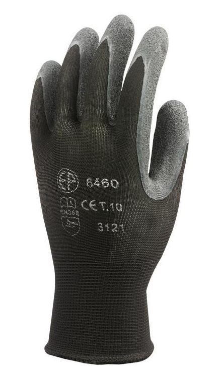 6460 Euroflex kötött rugalmas nylon szálú kesztyű, latex mártással