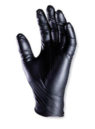 5928 Nitril fekete púder nélküli egyszer használatos kesztyű