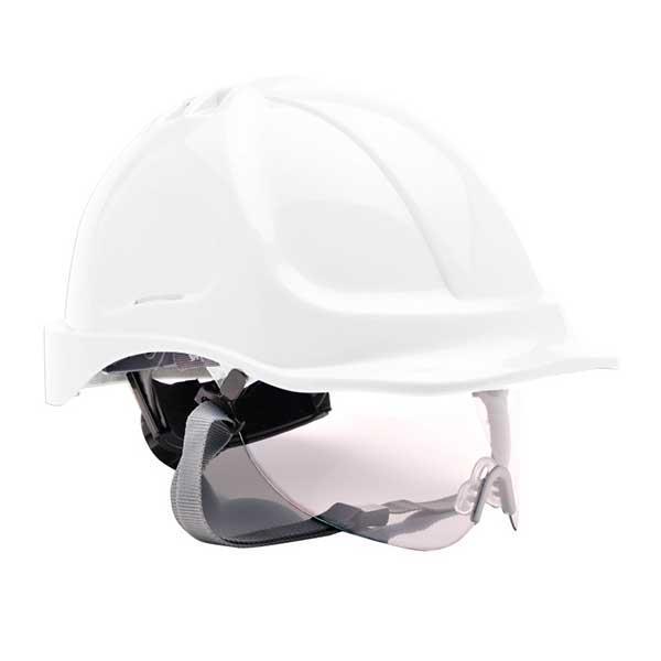 PW55 védősisak szemüveggel fehér