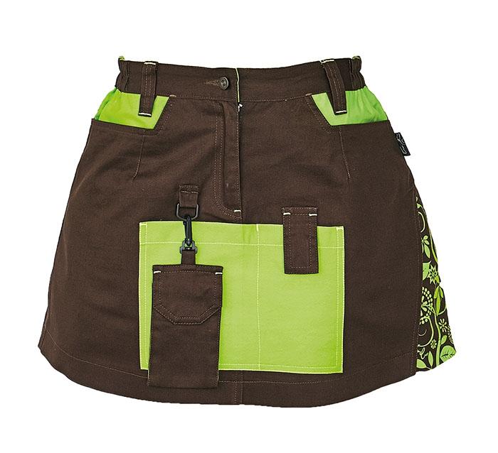 YOWIE szoknya barna/zöld