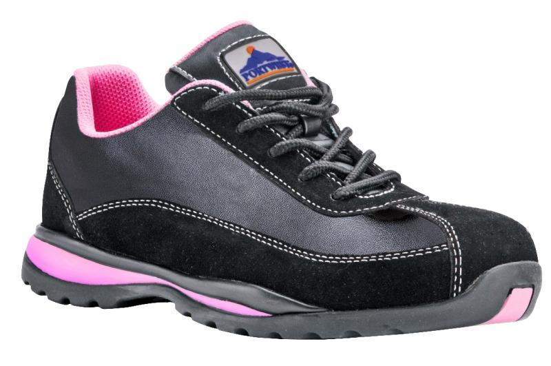 FW39 Steelite női S1P félcipő fekete/rózsaszín