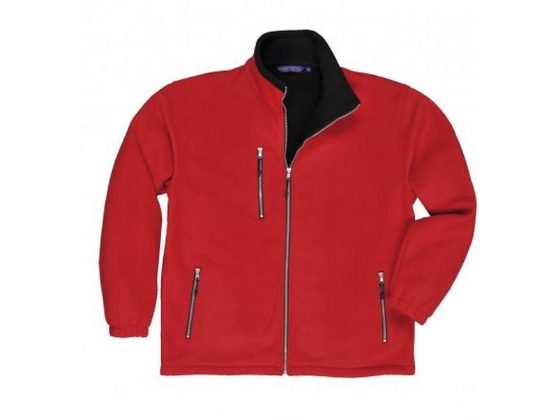 F401 City polár pulóver piros