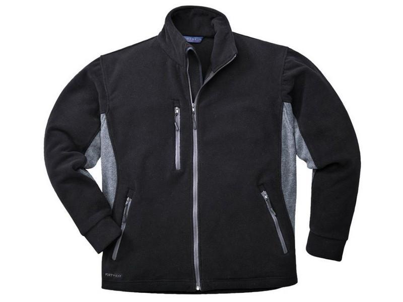 TX40 Texo contrast polár pulóver fekete