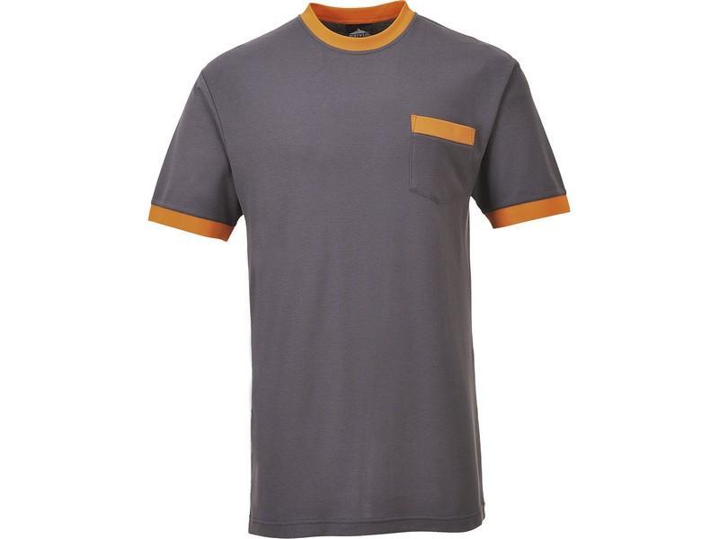 TX22 Texsew kontraszt póló szürke