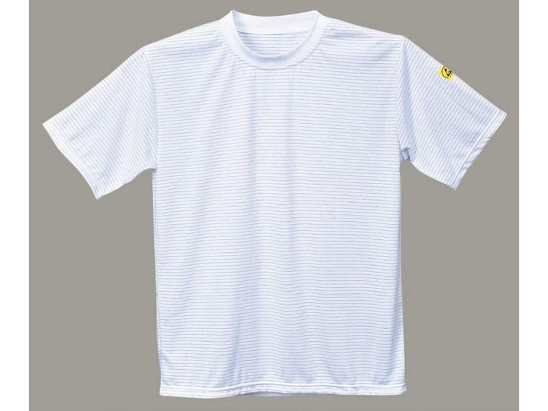 AS20, antisztatikus ESD póló, fehér