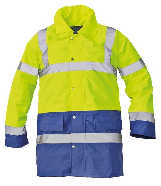 SEFTON bélelt fluo kabát sárga/royal