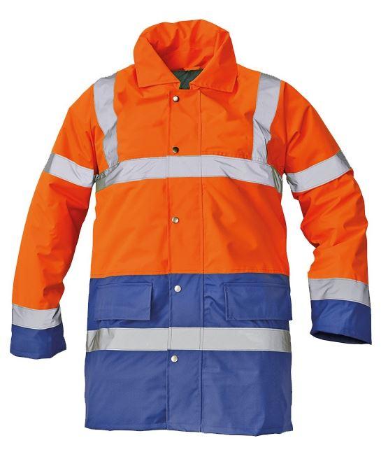 SEFTON bélelt fluo kabát narancs/royal