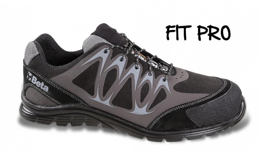 Beta 7319ESD perforált hasítottbőr cipő, ESD 38 Beta