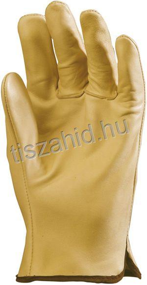 2211 sárga színű, tiszta színmarhabőr kesztyű