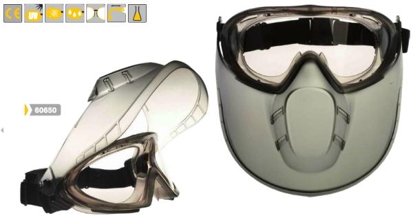 60650 STORMLUX védőszemüveg arcvédővel
